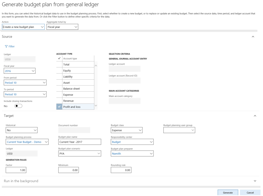 basics of budget planning in dynamics 365 for finance and operations