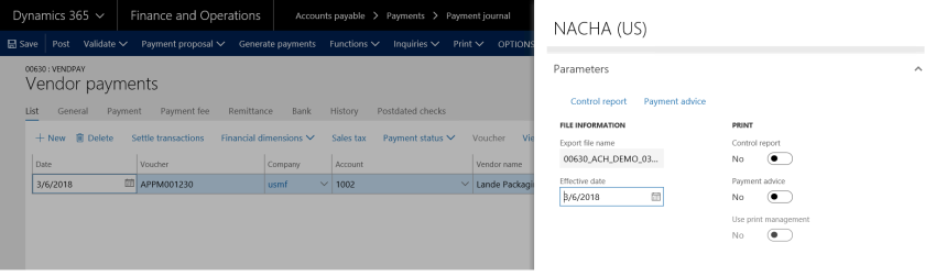 Automated Clearing House (ACH ) Configuration in Dynamics